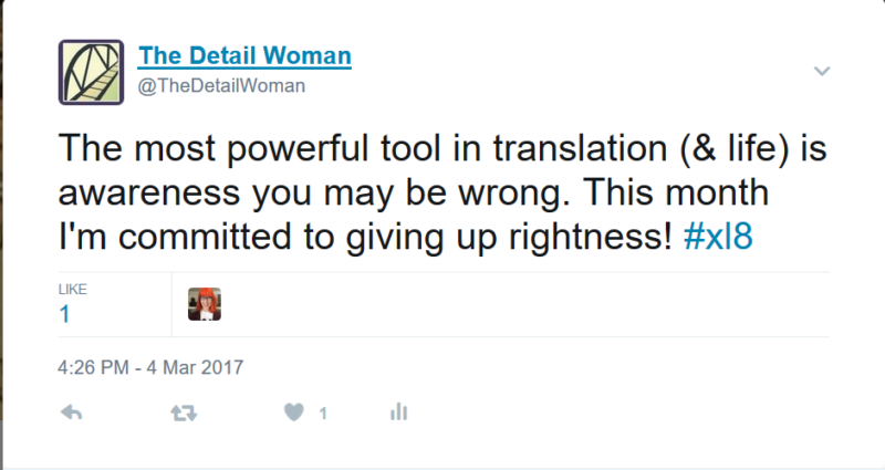 TheDetailWoman tweet from 4:26 PM - 4 Mar 2017.